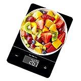 OMMO Balanzas de cocina digitales, plataforma de vidrio templado más grande, báscula electrónica para alimentos con diseño ultra delgado, báscula multifuncional para uso en casa o oficina, 15 kg/33 lb