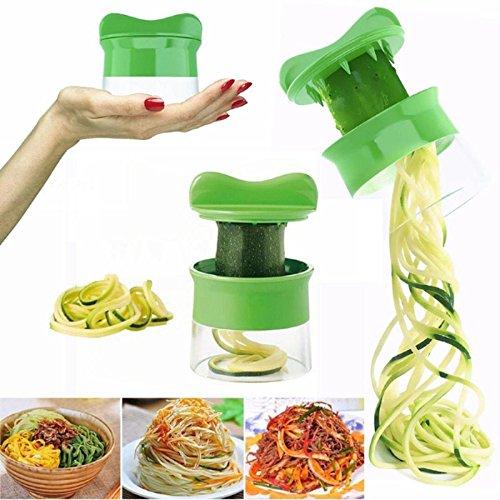 Cortador de Verduras Frutas en Espiral Multifuncional Paellaesp Mini Máquina de Cortar Espiral, Rallador y Cortador Manual Utensilio de Corte, Herramienta de Cocina
