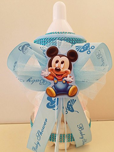 "Mickey Mouse Centerpiece Bottle Large 12"" Baby Shower Piggy Bank Boy Decoration"