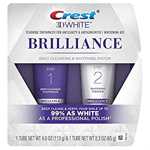 Crest 3D White Brilliance And Whitening 2 step Toothpaste