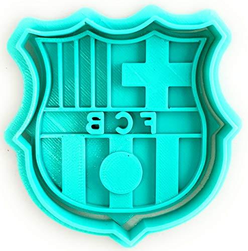 Molde Cortador de Galletas de Deporte -Fútbol Club Barcelona - Barça (Turquesa)