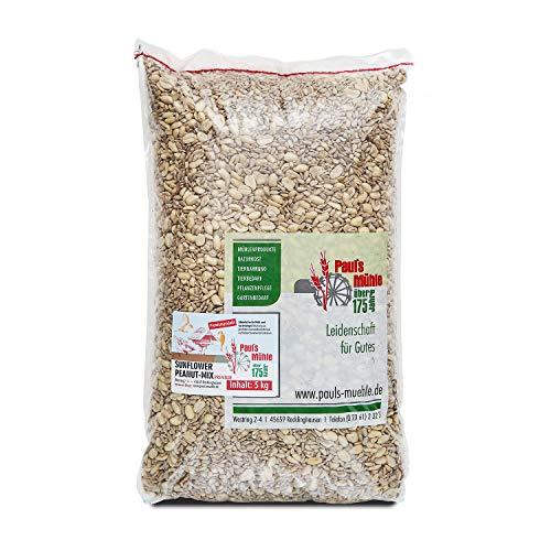 Pauls Mühle Sunflower Peanut Mix 5 kg, Mischung aus Sonnenblumenkernen und Erdnüssen