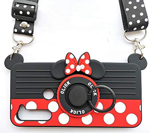 for Motorola Moto G Stylus Case(2020) 3D Cute Soft Silicone Cartoon Minnie Mouse Camera Design Phone Case for Women/Girl/Friends Classmate Best Birthday Gift (6.4in)