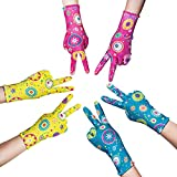 PROMEDIX P Gardening Gloves for Women, Breathable Nitrile Coated Women Working Gloves, Gardening gifts for women, Super Light Weight, Medium Size Fits Most, 3 Pairs