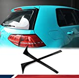 fits for Volkswagen VW Golf 7 MK7 7.5 2014-2018 Rear Wing Side Roof Spoiler Lip Window Decoration Deflectors Non for GTI R 2PCS (ABS)