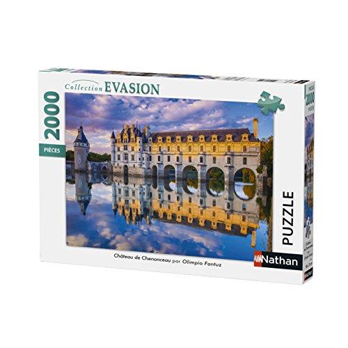 Nathan- Autre Puzzle Château de Chenonceau 2000 pièces, 87880