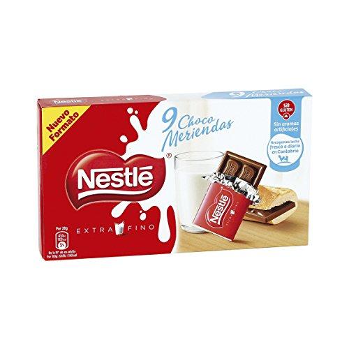 Nestlé Extrafino Choco Meriendas Chocolate con Leche, 180g