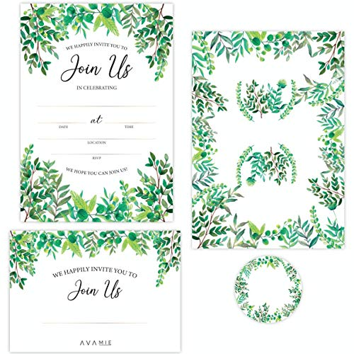 Join Us Invitations, 20 Cards with Matching Envelopes and Stickers, Fill-in All Occassion Invitations, Wedding, Engagement, Rehearsal Dinner, Bridal Shower, Baby Shower, Birthday Party