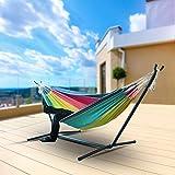 N/Y Grand hamac Chaise Suspendue pour Personnes Doubles, Grand hamac avec Portable lit hamac Double Swing pour Jardin Cour intérieure sans Support en Acier