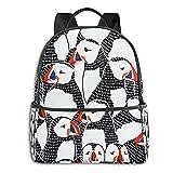 Mochila de dibujo de Puffin para portátil y tableta, mochila de viaje de 15 pulgadas, para mujeres, hombres, niñas y niños