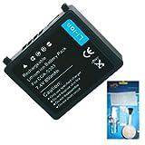 Amsahr Portátil batería de Repuesto para ERCM BATSQU528, 11.1 voltios, 4400 mAh - Incluye Auriculares estéreo