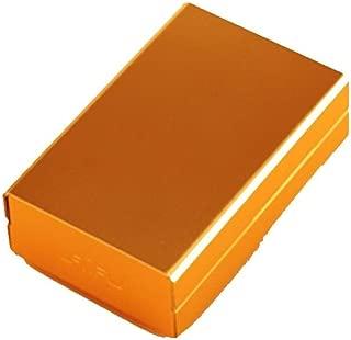 LBLMSB Cigarette Case, Metal Cigarette Case, Aluminum Alloy Portable Slider Cigarette Case, 20-Piece Waterproof Cigarette Case, (Color : Gold)