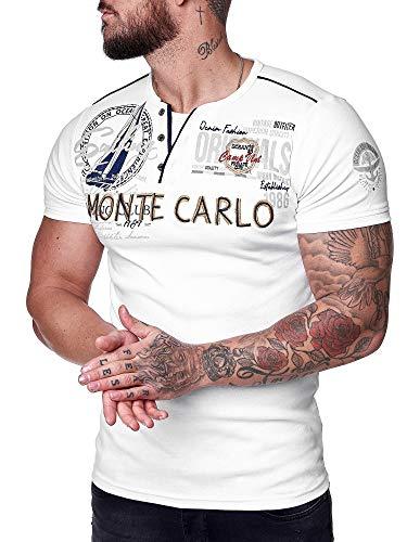 OneRedox Herren T-Shirt Kurzarm Rundhals Monte Carlo Modell 3569 Weiss XL
