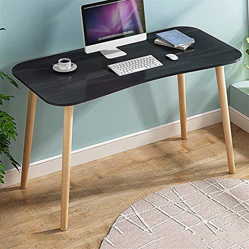 47-B En Forma De Arco De Escritorio De La Computadora, Pupitres Escritorio Simples, Mesas Domésticos Pequeños, Moderno Escritorio Dormitorio (Color : Black)
