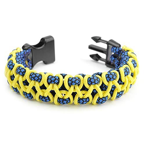 Paracord 350/550 Bracelet pour Homme et Femme Stitched Cobra Taille XL