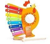 BALOO SPIELE Kinder Xylophon Musik Set zur Förderung der musikalischen Entwicklung - Holzspielzeug ab 1 Jahr - Dieses Musikinstrument für Kinder lädt durch den Hahn zum ständigen Spielen ein -
