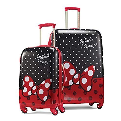 American Tourister Disney Hardside Luggage with Spinner Wheels, Minnie Mouse Red Bow, 2-Piece Set (21/28)