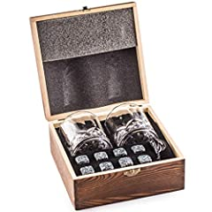 🍹ENJOY EVERY SINGLE SIP OF YOUR FAVORITE DRINK - With this impressive whisky rocks gift set every drink stays away from being diluted by ice in your new glasses. YOUR LAST SIP WILL ALWAYS BE AS PERFECT AS THE FIRST. ✔️EASY TO STORE, NO MESS - Simple ...