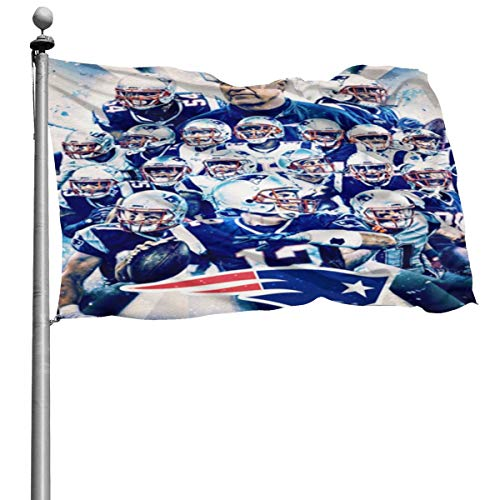 kimmyy New-England-Patriots Designs Beautiful Outdoor Banners Beach Art: Yard Signs | 4x6 Feet Flags Toughest And Strongest, Longest-lasting Flags Flags Outdoor Signs-Garden Signs-House Yard Signs