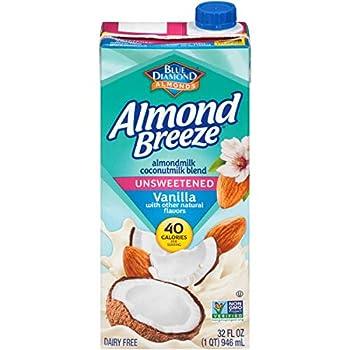 Almond Breeze Dairy Free Almondmilk Blend Almond Coconut Unsweetened Vanilla 32 Ounce  Pack of 12