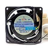 CYRMZAY Ventilador Compatible para Sun Ju SJ80025HA2 SJ8025HA2 8 cm 80 mm 8025 AC 220 V 240 V 0.06 A Ventilador de refrigeración inversor de Servidor