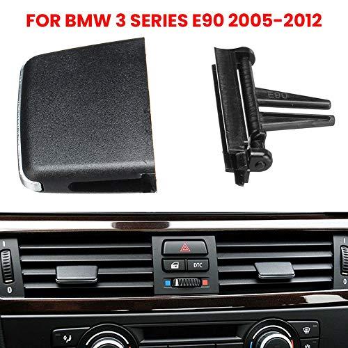 Festnight Griglia Air Fresh Clip Air Conditioning Vent Uscita Tab Clip Direzione del Vento Plettro Manopola per BMW Serie 3 E90 E91 E92 E93