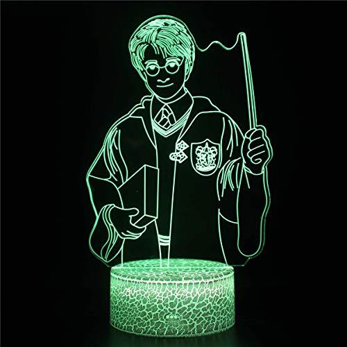 Harry Potter Lampara Luna Personalizada Luz Nocturna Infantil Lámpara De Noche De Ilusión 3D Multicolor Con Control Remoto Para Sala De Estar Bar Habitación Juguetes De Regalo