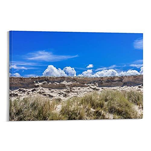 Poster artistico su tela con cielo chiaro, per ufficio, famiglia, per camera da letto, regalo decorativo, in stile cornice1 80 x 120 cm