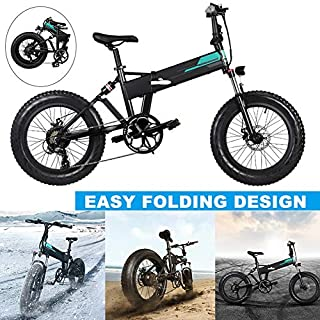 Valigrate Electric Mountain Bike 20x4 Inch Auminum Electric Folding Bikes Fat Tire, Level 3 Speed Regulation,36V 12.5Ah Large Cpacity Battery Electric Foldable Bicycle