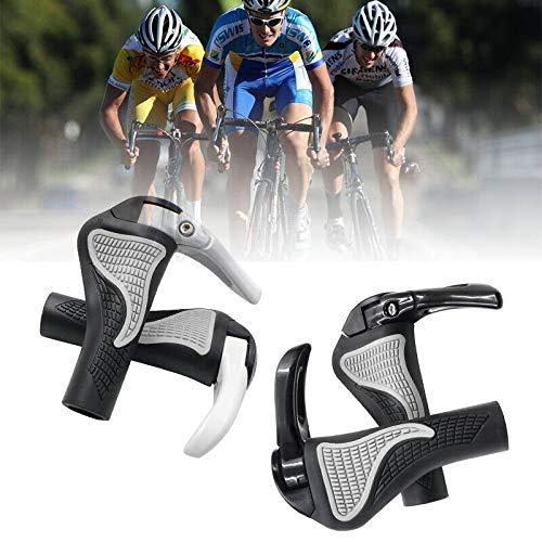 2 Stück MTB Fahrrad Lenkergriffe Gummi Ergonomic Rubber Anti-Rutsch Handgriffe Mit Bar End