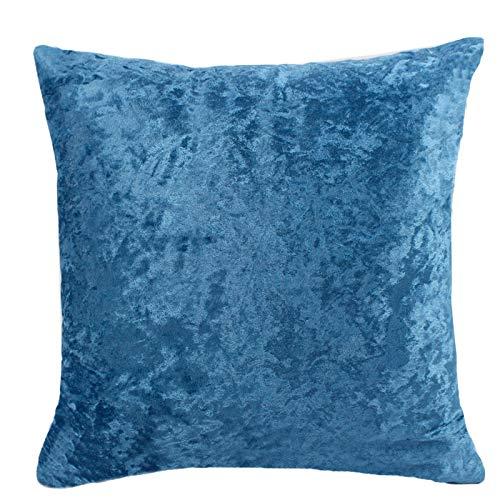 JONJUMP Funda de almohada de terciopelo, cojín colorido para decoración del hogar, sala de estar, sofá de 45 cm