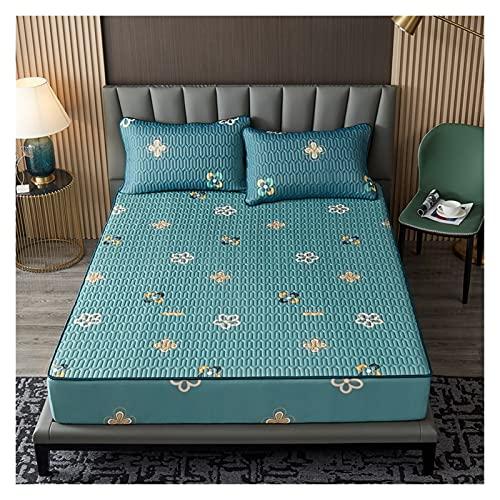 Madrasser Latex monterad plåt utskrift vikbar kylning sommar sovmatta härlig madrass skyddsark cool säng omslag (Size : 180x200x28cm 3pcs)
