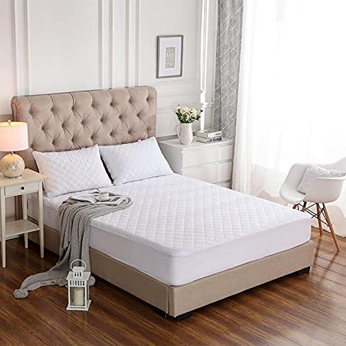 CYYyang Protector de colchón/Cubre colchón Acolchado, antiácaros, Manta para mojar la Cama Impermeable y Transpirable de Color Puro-1_200x200x45cm