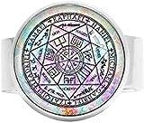 Sette Archi Angeli Protezione Amuleto Arcangelo Michele Gioielli Angelo Gioielli Charm Anello Vintage Art Foto Gioielli
