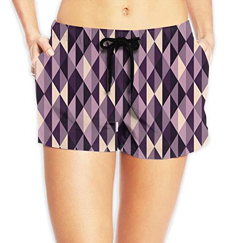 FULIYA Pantalones cortos de playa de cintura ajustable, ligeros, para surf, piscina y natación