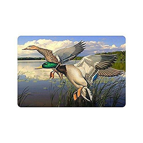 Homie Design Homer Motif Mallard Ducks Flying Over The Lake Tapis Paillasson Lavable 59,9 x 39,9 cm Intérieur/extérieur de Bain Décor de Cuisine Zone Tapis 59,9 x 39,9 cm Intérieur/extérieur