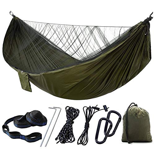 Kasoul Camping Hammock, Portable Parachute Tree Hammock Durable Camp Lightweight Portable Hammock for Sleeping Backpacking Travel Outdoor Beach Hiking Sport