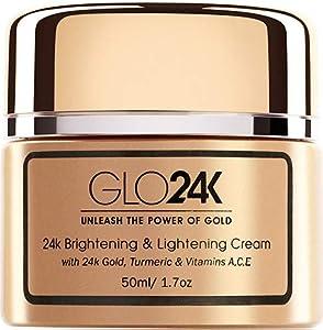GLO24K Crema aclarante y aclaradora con oro de 24 k, cúrcuma y vitaminas A, C, E