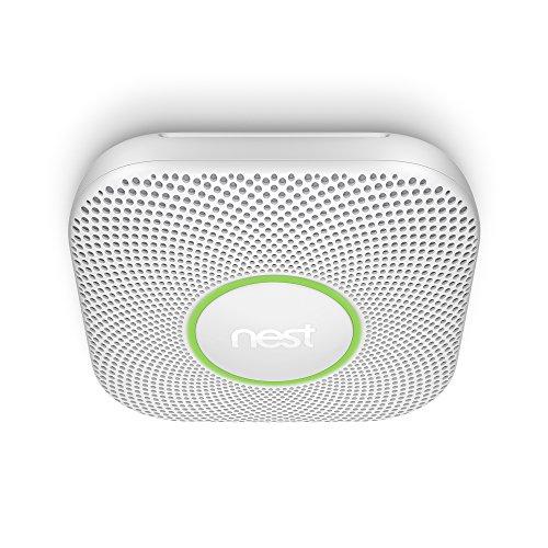Google, S3006WBUS, Nest Protect Smoke + Carbon Monoxide Alarm, 2nd Gen, Battery, 3 Pack,White