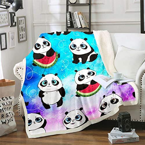 Manta de forro polar con diseño de oso galaxia, para niños y niñas, linda manta de peluche gigante salvaje, oso impreso, espacio exterior, manta difusa para sofá cama, doble de 152 x 192 cm