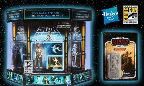 SDCC Comic Con Exclusive Hasbro Action Figure 7Pack Star Wars Vintage Carbonite Chamber