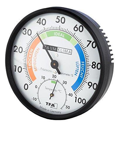 Wetterladen Präzisions Hygrometer Klimatest, Schwarz, 100 x 26 mm