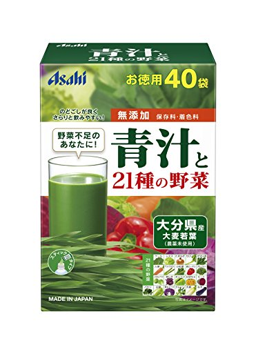 Asahi AOJIRU and 21 Vegetables | Powder Stick | 3.3g x 40 [Japanese Import]