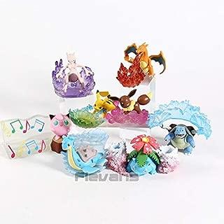 Anime Monster Charizard Venusaur Blastoise Mewtwo Eevee Lapras Jigglypuff Desktop Figures Toys Dolls 8Pcs/Set Must Have Toys 7 Year Old Girl Gifts Toddler Favourite Superhero Party Decorations