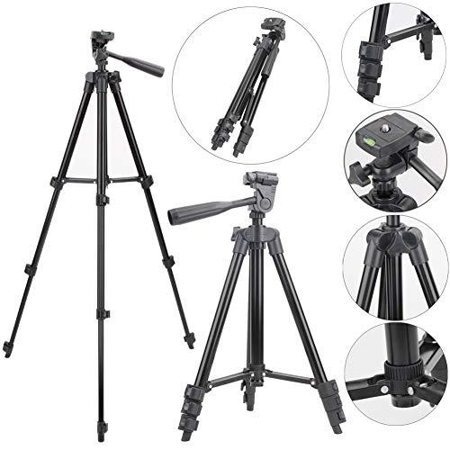 takestop TREPPIEDI CAVALLETTO Universale YF 3120 per Cellulare Smartphone Camera VIDEOCAMERA in Lega di Alluminio Testa Girevole A 360 Gradi