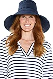 Coolibar UPF 50+ Women's Brittany Beach Hat - Sun Protective (One Size- Navy)