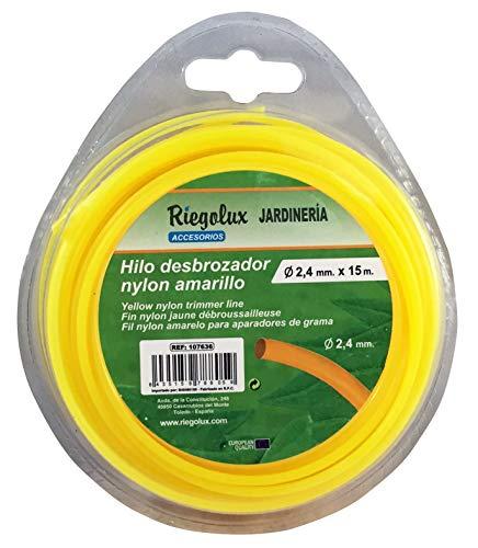 Riegolux 107635 Hilo Desbrozadora Nylon Redonda, Amarillo, 3 mm x 10 m