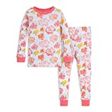 Burt's Bees Baby baby girls Pajamas, Tee and Pant 2-piece Pj Set, 100% Organic Cotton Pajama Set, Pink Rosy Spring, 24 Months US