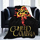 CoheedandCambria Fleece Blanket Modern Soft Flannel Fleece Blanket Decorate Bedroom Living Rooms Sofa Couch