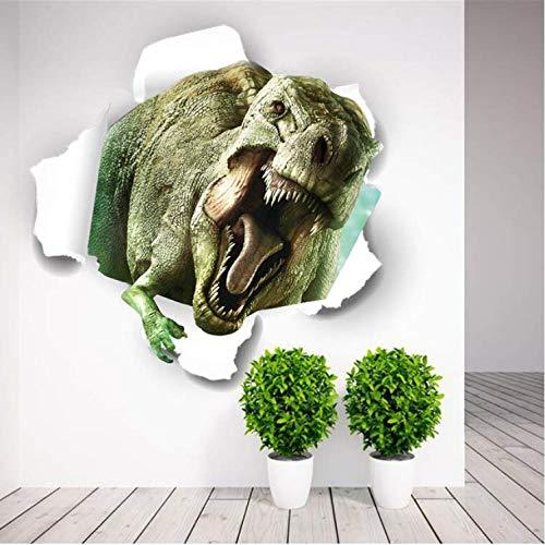 Wandaufkleber 3D Dinosaurier Home Decoration Pvc Wohnzimmer Zeitraum Tiere Drucken Aufkleber Wandbild Kunst Tapete Fenster Poster 50X50 cm C